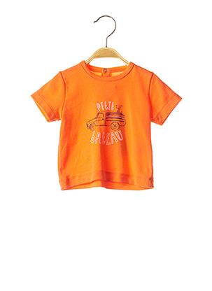 T-shirt manches courtes orange PETIT BATEAU pour garçon