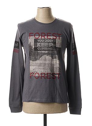 T-shirt manches longues gris LOSAN pour garçon
