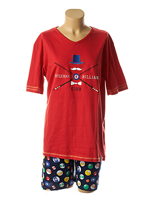 Pyjama rouge ROSE POMME pour homme