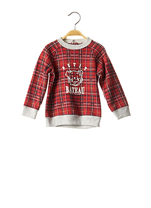 Sweat-shirt rouge PETIT BATEAU pour garçon