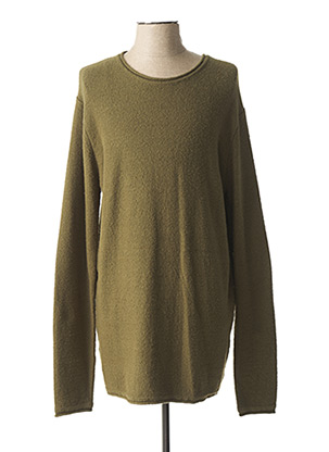 Pull col rond vert DSTREZZED pour homme