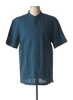 Chemise manches courtes bleu SCOTCH & SODA pour homme