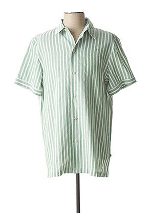 Chemise manches courtes vert SCOTCH & SODA pour homme