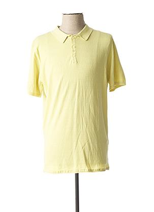 Polo manches courtes jaune DSTREZZED pour homme