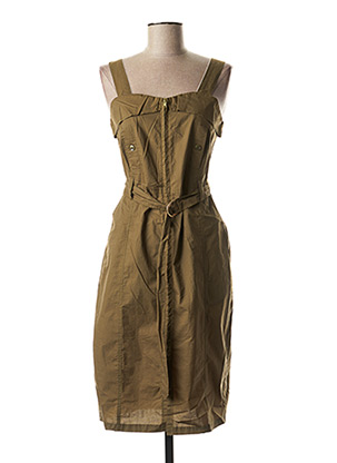 Robe mi-longue vert LOLA ESPELETA pour femme