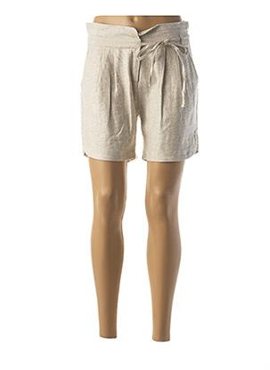 Short beige LOLA ESPELETA pour femme