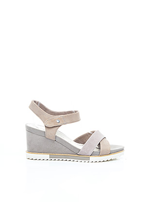 Sandales/Nu pieds beige TAMARIS pour femme