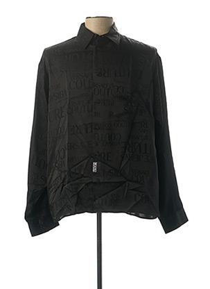 Chemise manches longues noir VERSACE JEANS COUTURE pour homme
