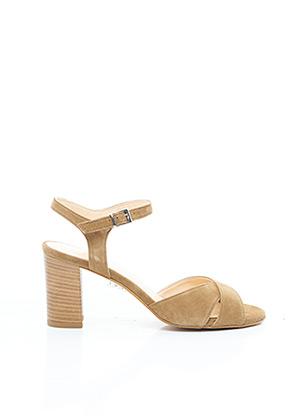 Sandales/Nu pieds beige BRENDA ZARO pour femme