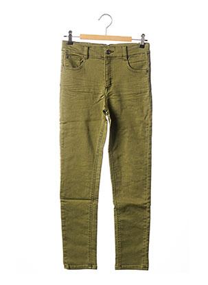 Jeans coupe slim vert 3 POMMES pour fille