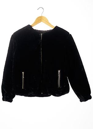 Manteau court noir BECKARO pour fille