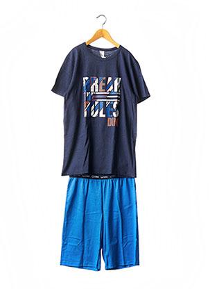 Pyjashort bleu DIM pour garçon