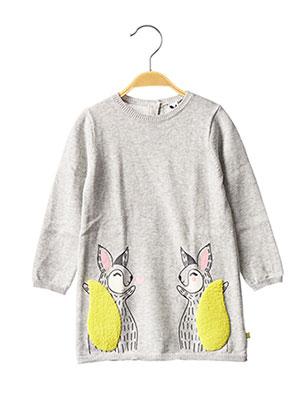 Robe pull gris 3 POMMES pour fille