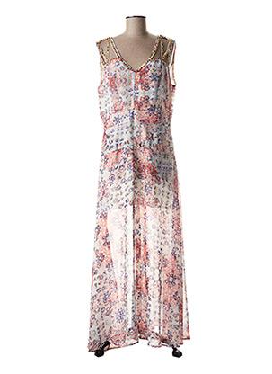 Robe longue rose LESLIE pour femme