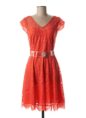 Robe mi-longue orange KOCCA pour femme