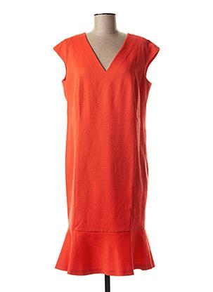 Robe mi-longue orange MARGA NOVAS pour femme
