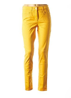 Jeans coupe slim jaune BASLER pour femme