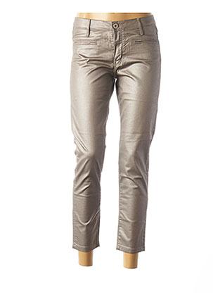 Pantalon 7/8 gris DENIM STUDIO pour femme