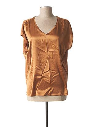 Blouse manches courtes marron BETTY BARCLAY pour femme