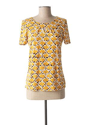 T-shirt manches courtes jaune DIANE LAURY pour femme