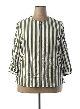 Veste casual vert FRANK WALDER pour femme