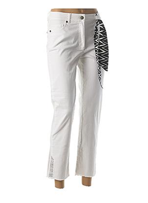 Jeans coupe droite blanc BETTY BARCLAY pour femme