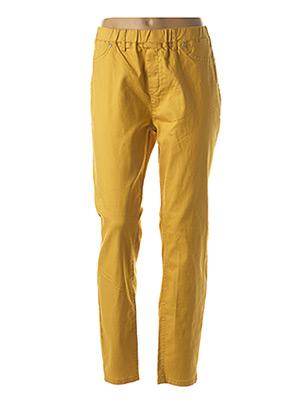 Pantalon casual jaune CISO pour femme