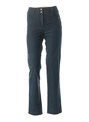 Jeans coupe droite bleu QUATTRO pour femme