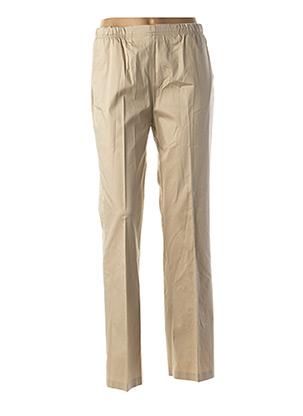 Pantalon casual beige QUATTRO pour femme