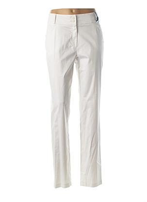 Pantalon casual blanc QUATTRO pour femme