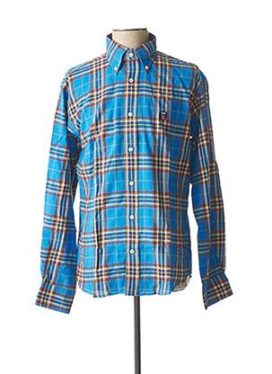 Chemise manches longues bleu JEZEQUEL pour homme