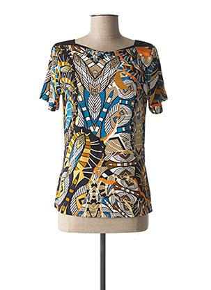 T-shirt manches courtes bleu CHRISTINE LAURE pour femme