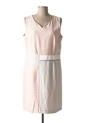 Robe mi-longue rose CHRISTINE LAURE pour femme