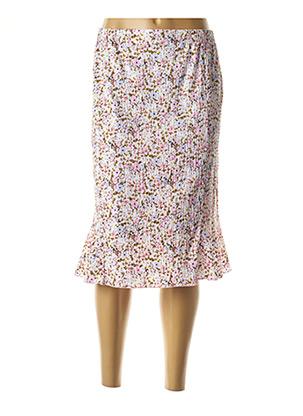 Jupe mi-longue rose GRIFFON pour femme