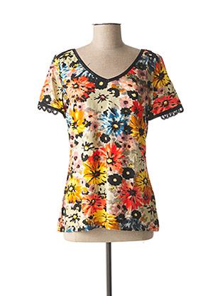 T-shirt manches courtes jaune LOLESFILLES pour femme