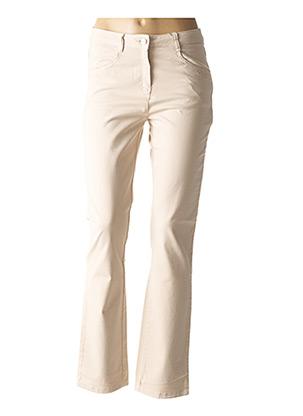 Pantalon casual beige DIANE LAURY pour femme