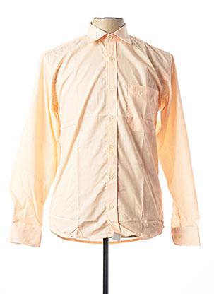 Chemise manches longues orange ARMORIAL pour homme
