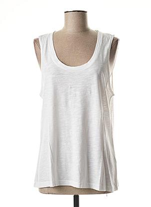 T-shirt manches courtes blanc AMERICAN VINTAGE pour femme
