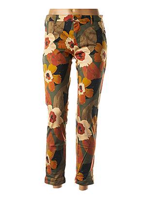 Pantalon 7/8 orange HOD pour femme