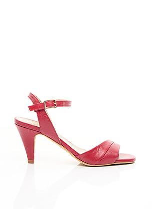 Sandales/Nu pieds rouge PABLO pour femme