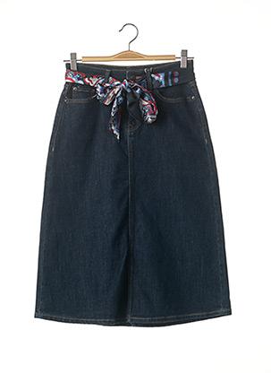 Jupe mi-longue bleu ESPRIT pour femme