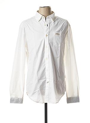 Chemise manches longues blanc NAPAPIJRI pour homme
