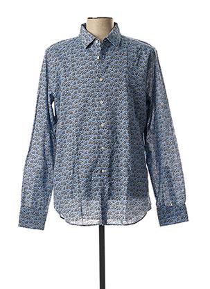 Chemise manches longues bleu GMF 965 pour homme