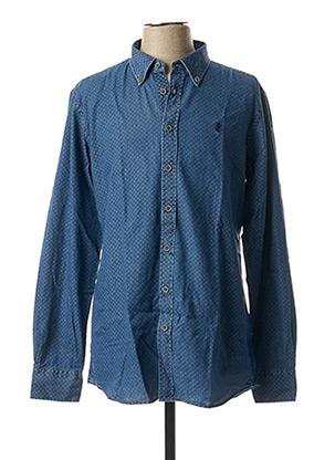 Chemise manches longues bleu MCS pour homme