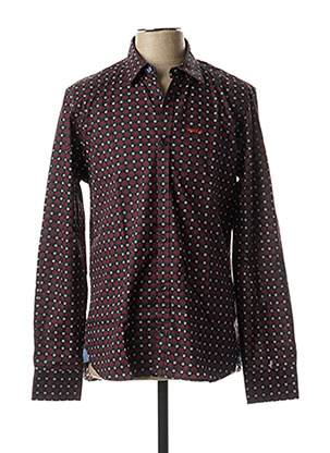 Chemise manches longues rouge N.Z.A NEW ZEALAND pour homme
