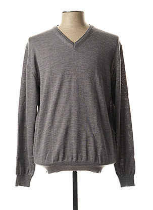 Pull col V gris PRIVATI FIRENZE pour homme