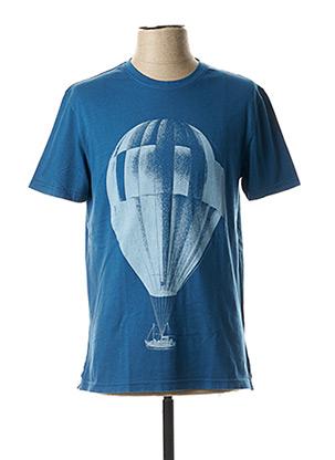 T-shirt manches courtes bleu WHITE STUFF pour homme