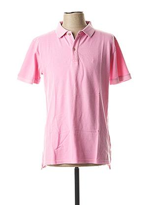 Polo manches courtes rose MCL pour homme