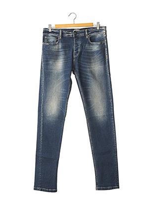 Jeans coupe slim bleu SERGE BLANCO pour homme