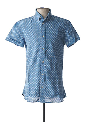 Chemise manches courtes bleu SELECTED pour homme